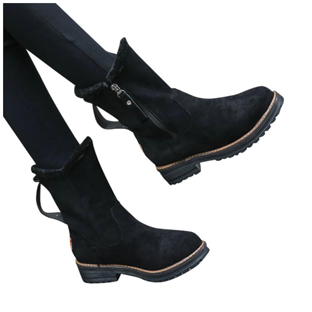 SAGACE Kış Su geçirmez Boots Kadınlar Orta Buzağı Boots Aşağı Kar Bottes Femme Kürk Peluş Ayakkabı 1122 Siyah Botaş Mujer Invierno Ayakkabı