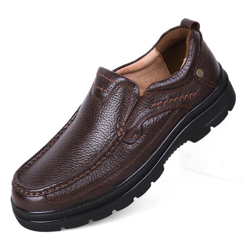 Qualitäts-echtes Leder-Mann-Schuhe weiche Mokassins Loafers Mode-Marken-Männer Wohnungen bequeme Fahren Schuhe Big Größe 37 ~ 49