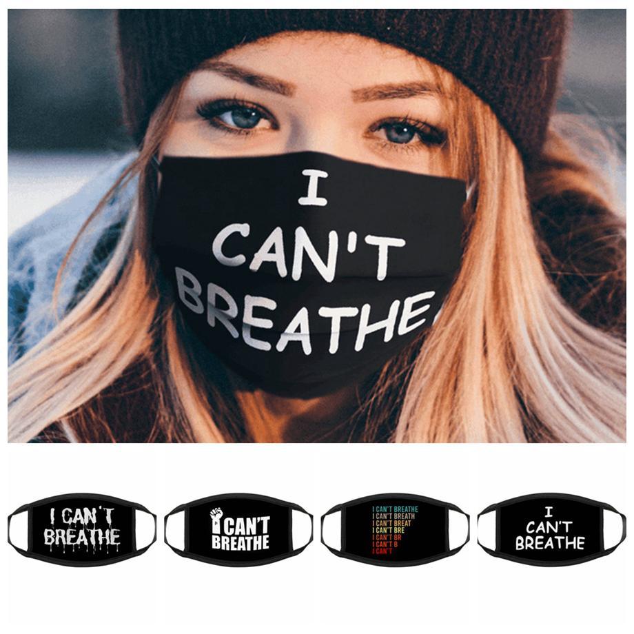 Eu não posso respirar respirador máscaras pretas Lives Matéria máscara facial Máscaras George Floyd adultos lavável reutilizável máscara LJJA4147