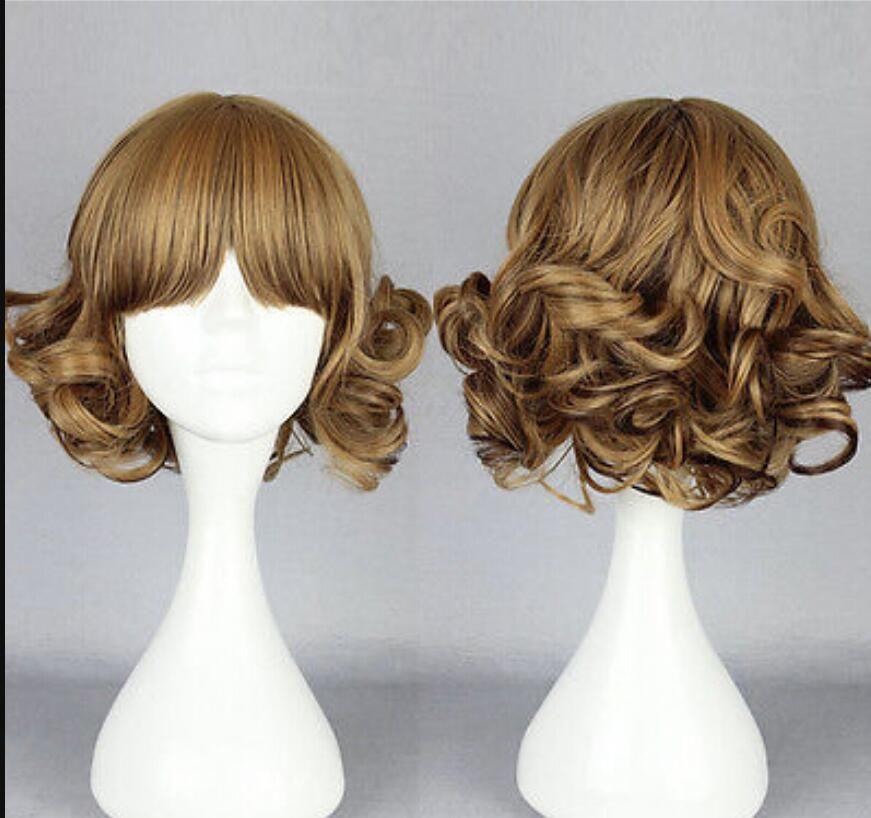 Perruque livraison gratuite Hot Fashion perruque New Charm longue couleur des femmes mélangé perruques naturelles bouclés