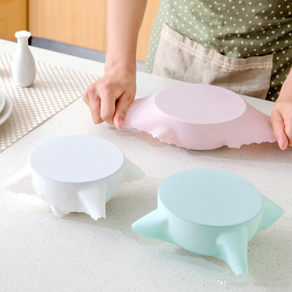 2019 Silicone Food Fresh Keeping Cover Special For Microwave Refrigerator Reusable Seal Hot Dish Bowl Stretch Lid Food Storage Kitchen Tool 9 05 From