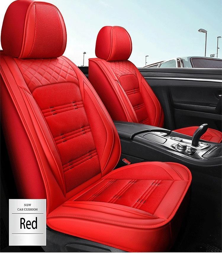 Evrensel Fit Araba İç Aksesuarlar Koltuk Kapakları Sedan PU Deri Eklenebilir Beş Koltuklar SUV BM007 Için Tam Surround Tasarım Koltuk Örtüsü