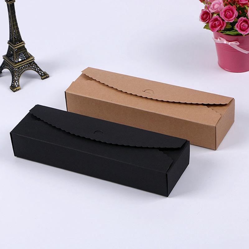 Macaron 비스킷 팬케이크 포장 상자 선물 포장 크래프트 종이 상자 쥬얼리 케이크 패키지