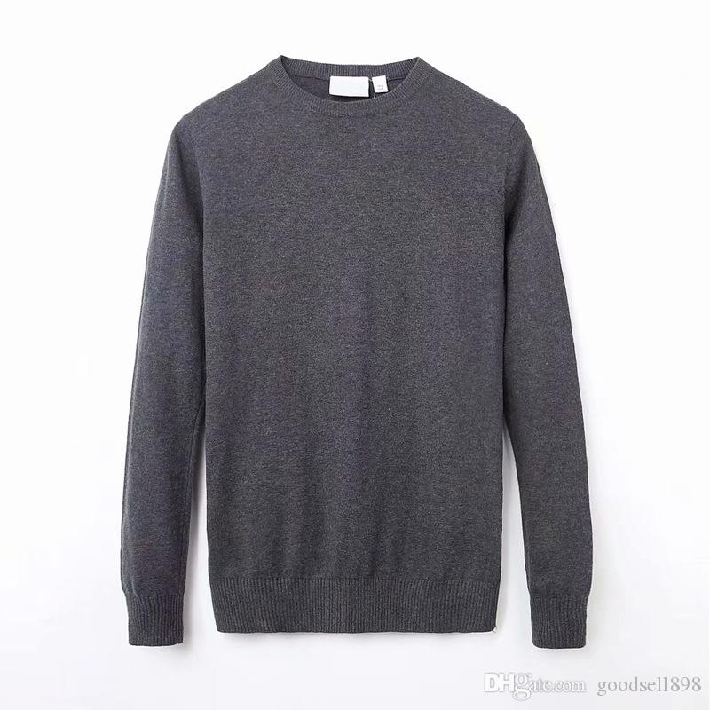 hot sale High Quality polo Men's Twisted Needle Sweater Knitted Cotton Round neck Sweater Pullover Sweater Male size M-XXL