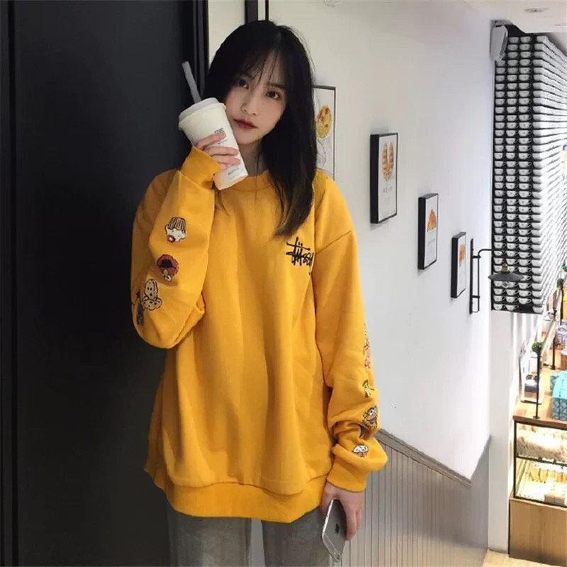 2020 mujeres de alta calidad suéter de la primavera y el otoño de moda de manga larga camiseta de ropa casual cómoda ocasional L016