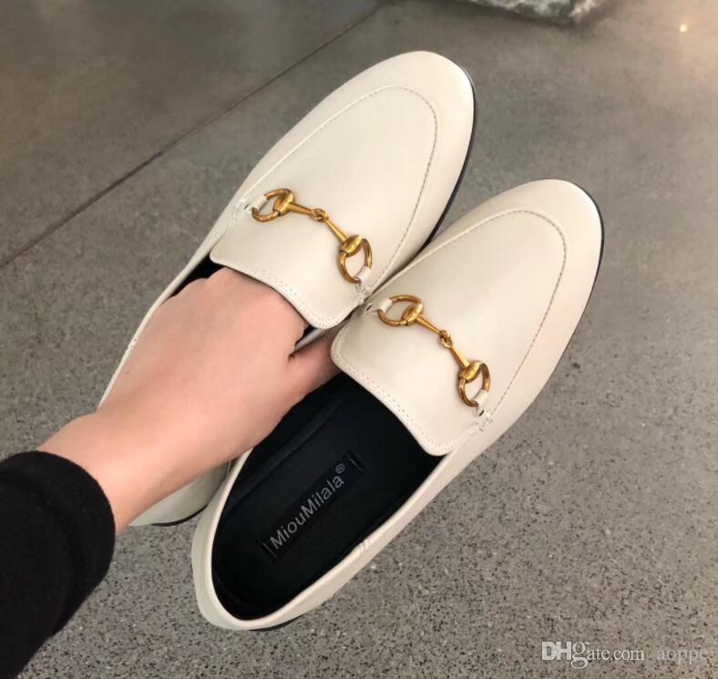 2019 новый летний женщины Baotou тапочки Horsebit плоские сандалии мода heelless 329