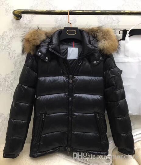 Мужской бренд куртка Мех новый известный дизайнерский бренд высшего качества белая утка мужской пуховик мужской пух парки роскошные теплые пиджаки пуховик