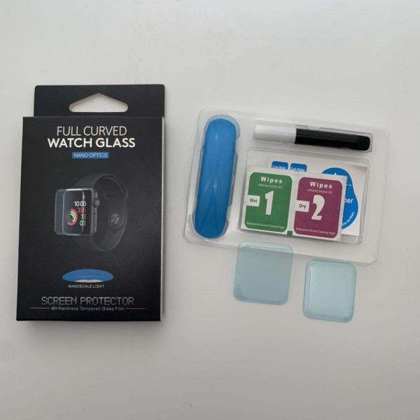 2020 كامل الجسم 3D منحني UV السائل الغراء الزجاج المقسى لووتش أبل سلسلة 1 2 3 4 5 حامي الشاشة للحصول iwatch 38 40 42 44 ملم DHL