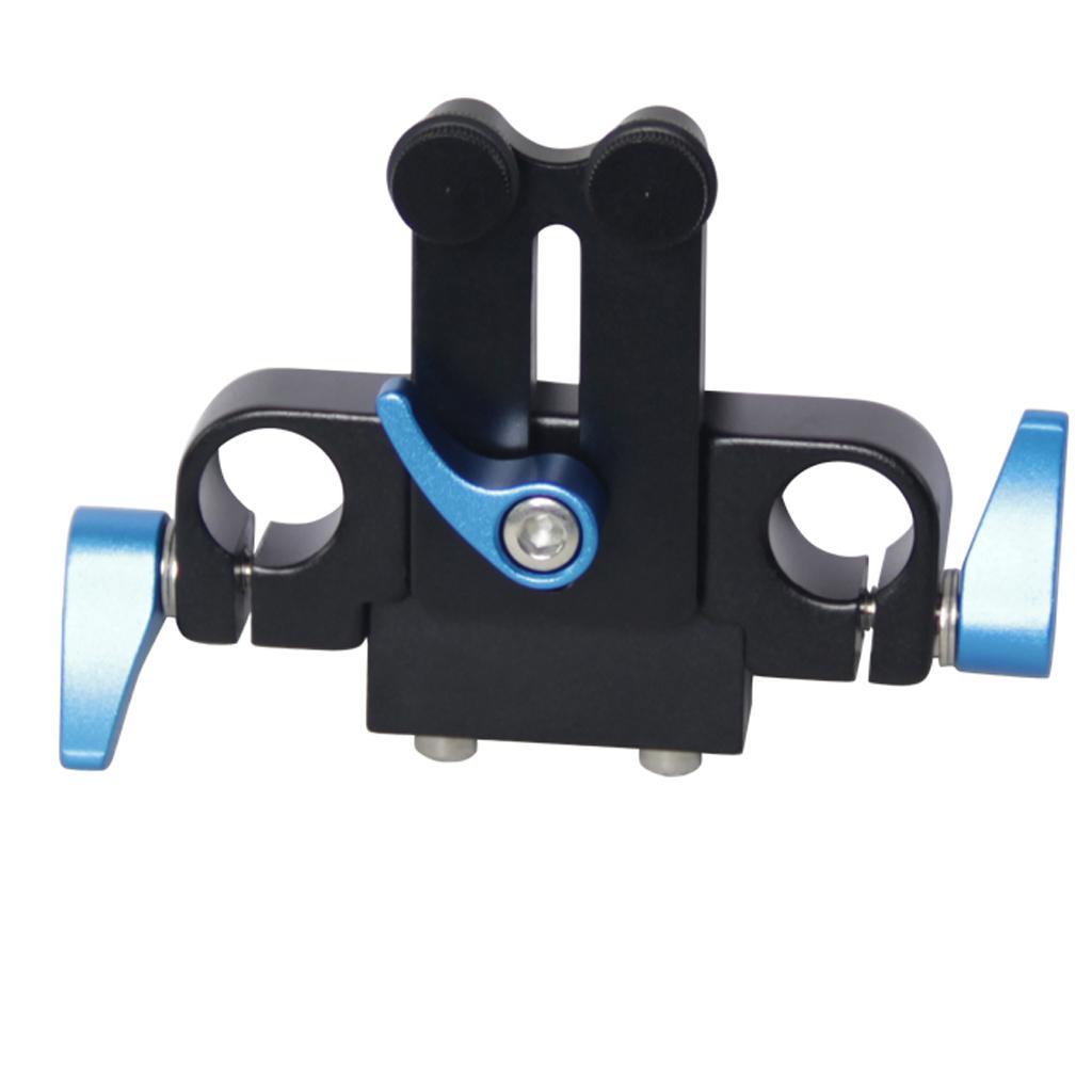 15 milímetros Rod Rail Rig Sistema de Apoio Baseplate para Seguir o foco do Matte Box -A10