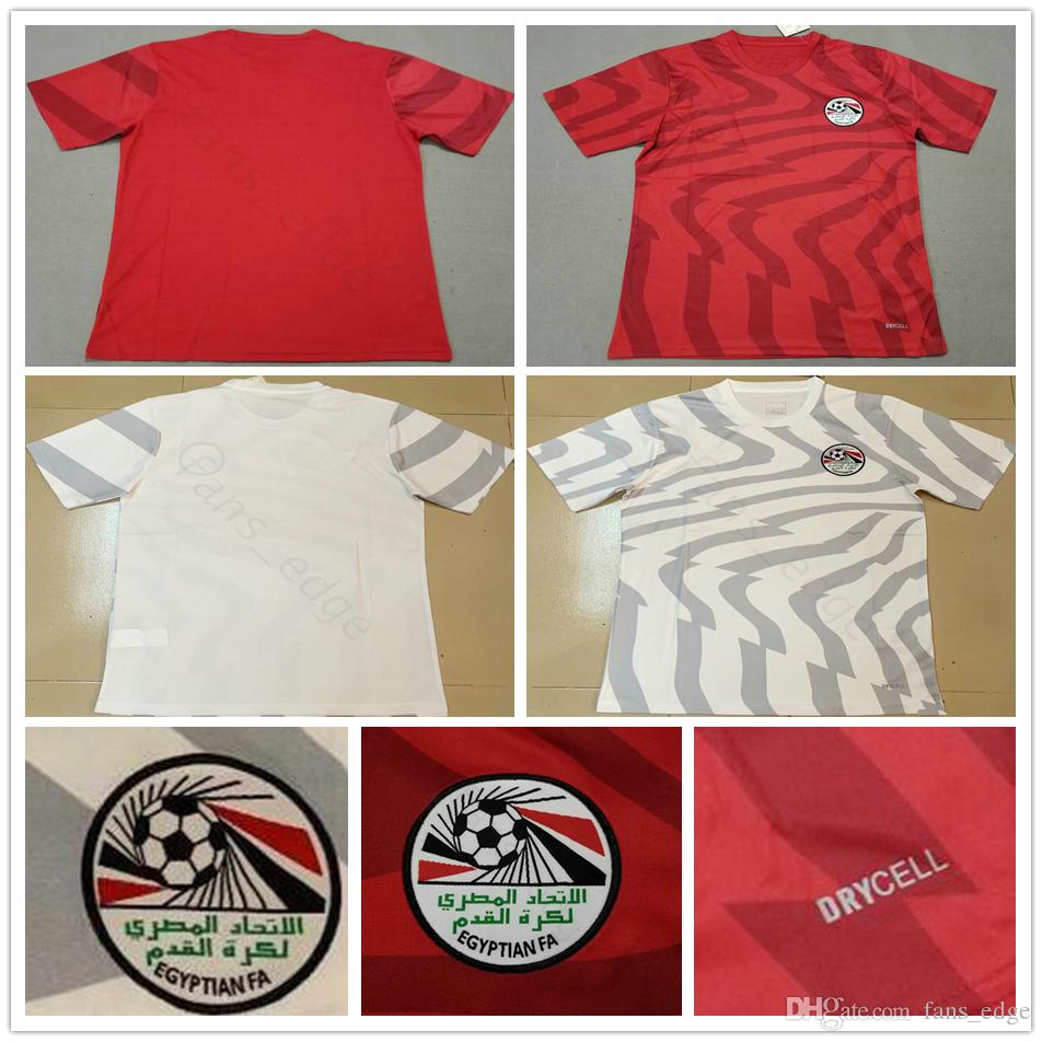 2019 2020 Egito Camisas De Futebol 10 M. SALAH 6 A. HEGAZI 17 M.ELNENY KAHRABA RAMADAN Personalizado Casa Fora 19 20 Camisa De Futebol