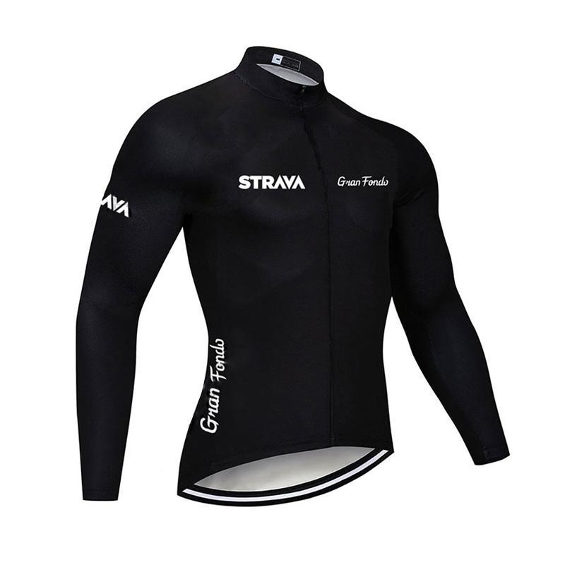 2019 Strava Mens Radtrikot Fahrrad Langarm-Shirt maillot ropa ciclismo Fahrrad Kleidung mountaion Bike Tops K092607