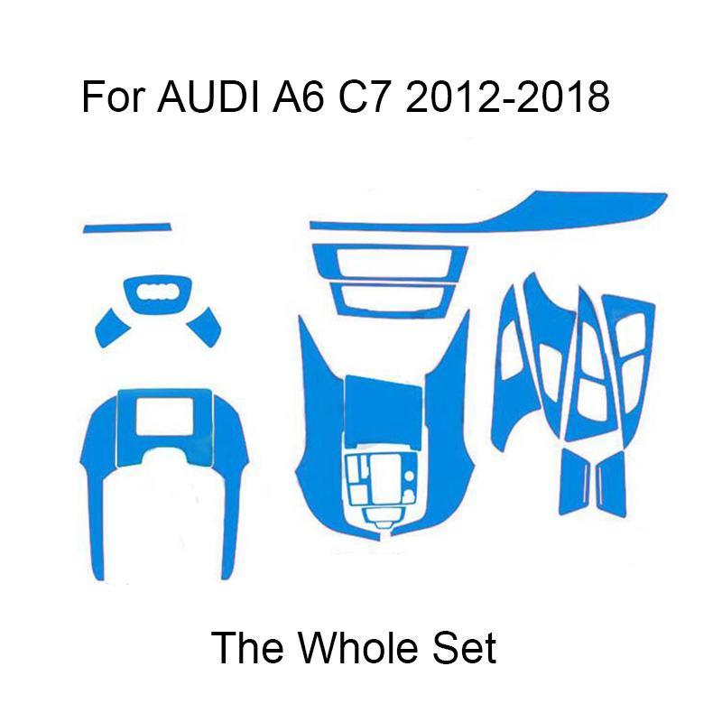 3D 4D 5D углеродного волокна винила стикеры для AUDI A6 C7 4G 2012-2018 автомобилей Оформление интерьера / Обновление / Защита