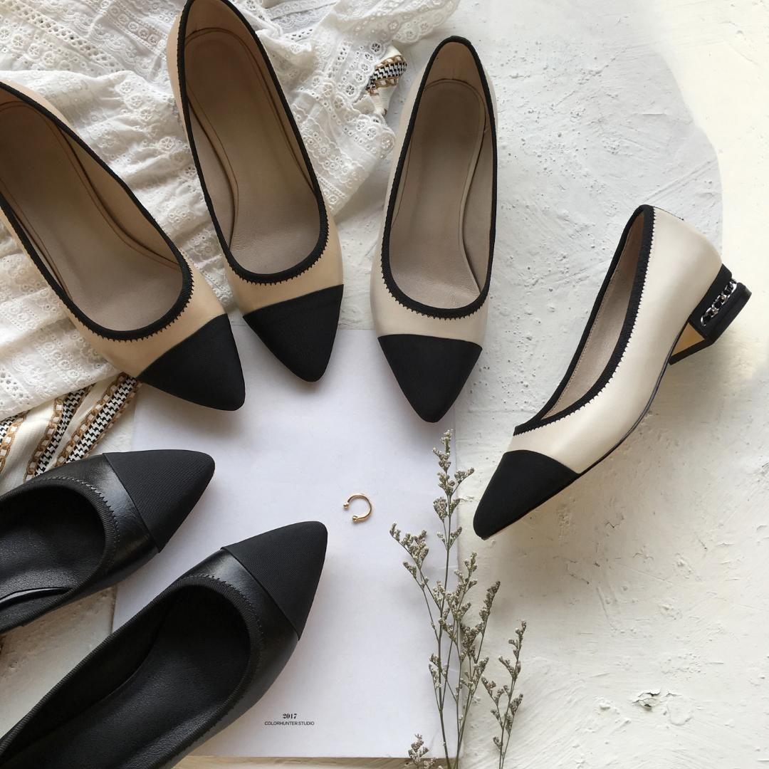 Sapatos de LOVIRS Boutique Couro Mulheres salto baixo New design de baixo sapatos de salto elegante vestido de festa Escritório Mulheres