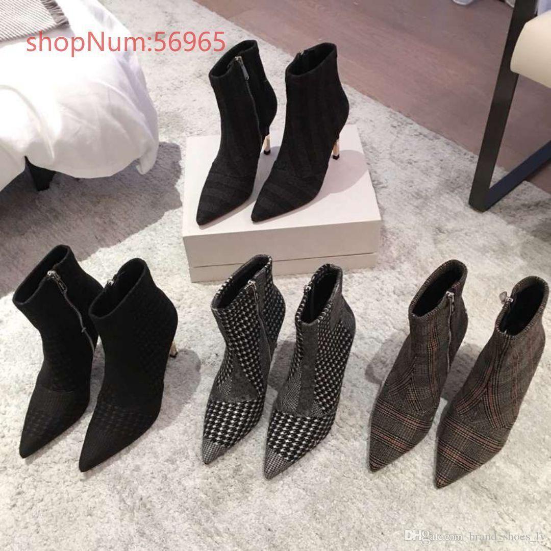 calzón chino 2018 las nuevas mujeres de lujo, la moda de alta calidad y talón zapatos continental extremo puntiagudo de las mujeres cómodas respirables, tamaño 34-40