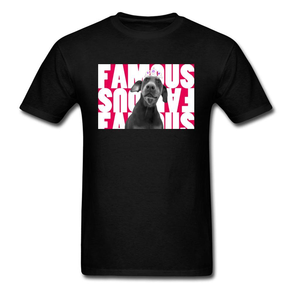 Hey olhar Im famoso T-shirt Dos Homens Camiseta de Algodão Engraçado T Camisas Labrador Preto Imprimir Roupas de Verão 2018 Tops Tees Frete Grátis