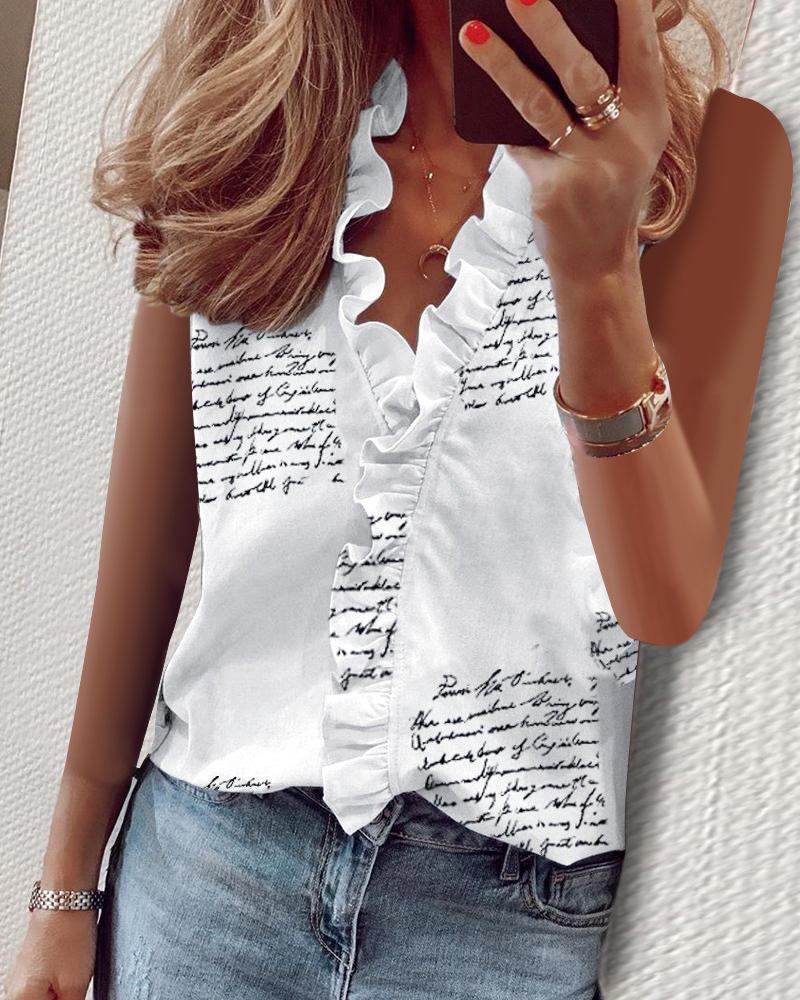 Elegante Nuova Ananas Stampa volant camicetta camicie Ufficio signora Tops 2020 manica corta Summer Slim Camicette donne sexy scollo a V