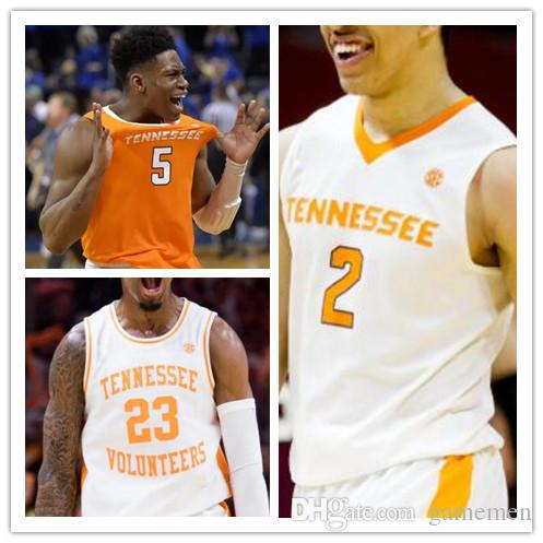 Brock Jancek Tennessee Volunteers Basketball Jersey - White