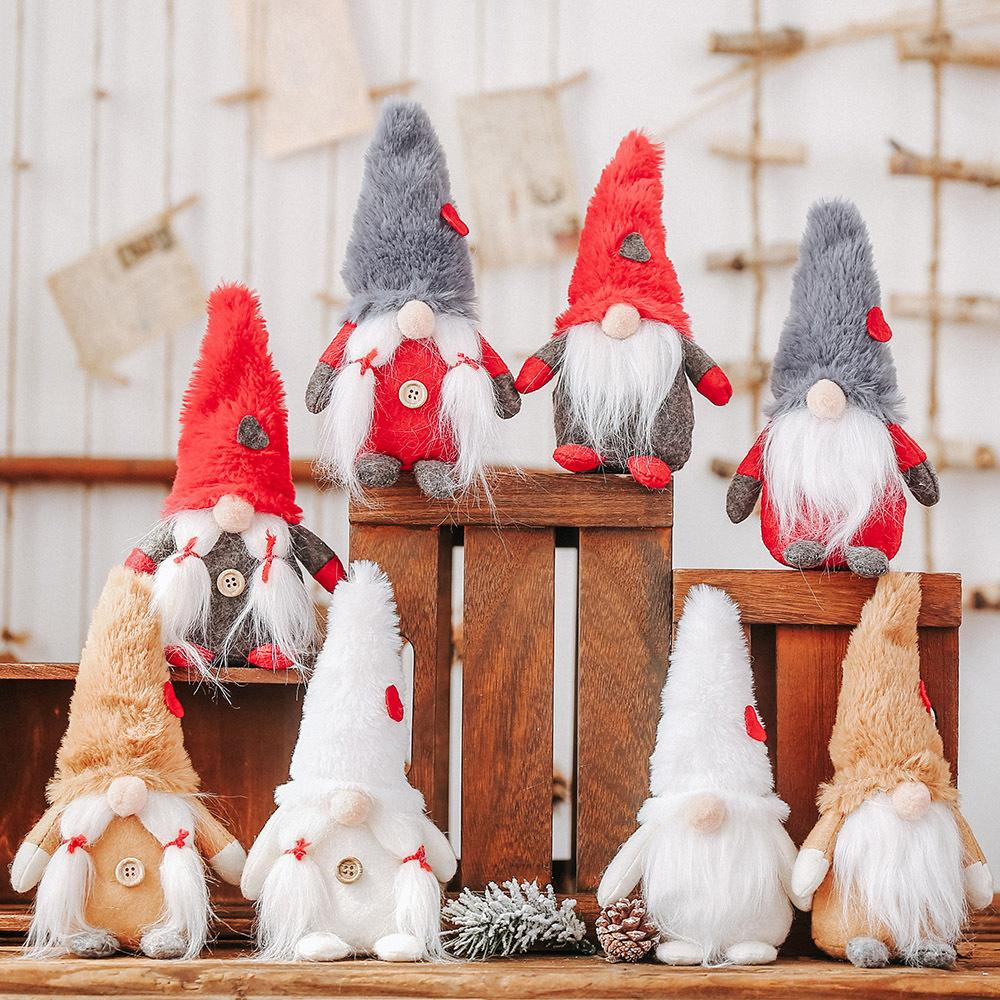 New Christmas Decorations Man Face Forest Peluche Doll Decoration Elderly Man Child Regalo di Natale Ciondolo