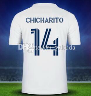 Personalità Personalizzata 14 Chicharito 21-22 Galaxy Vela Thai Quality Soccer Jerseys 10 Pizarro 9 Rossi 7 Martinez 22 Abbigliamento da allenamento Zelaya