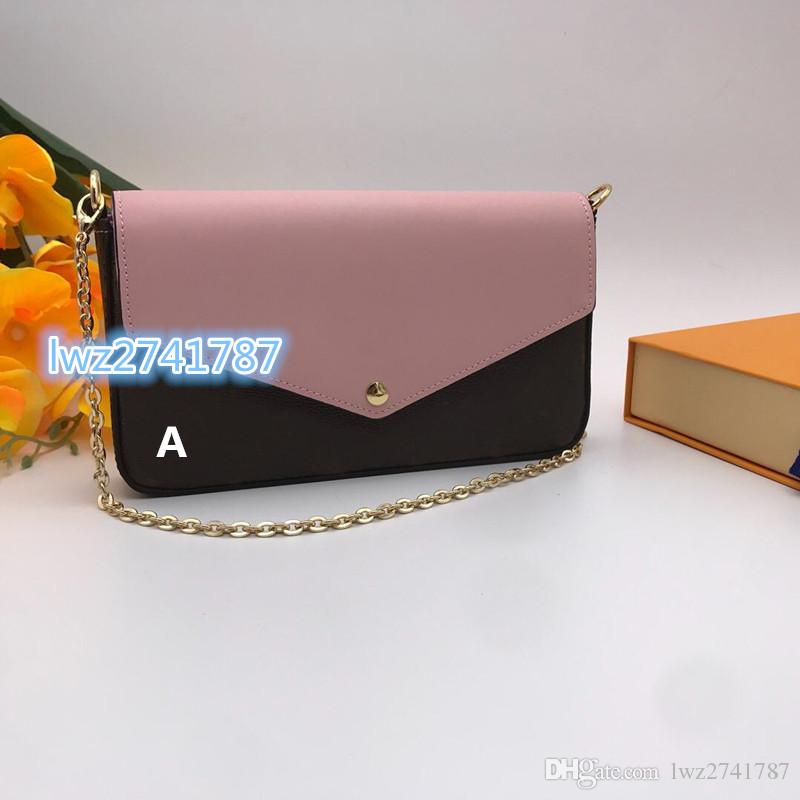 Portafoglio High Handbag Numero Seriale Inside Cluth Pelle Pelle Borsa a tracolla Borsa Genuine Classico con 2 pezzi Qualità della scatola THHTW