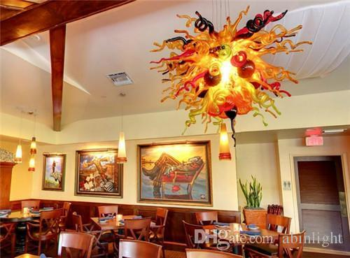 New Arrival Turkish Style Blown Glass Chandeliers Murano Glass Hotel Decoration Unique Designed Bright Color Pop Chandeliers