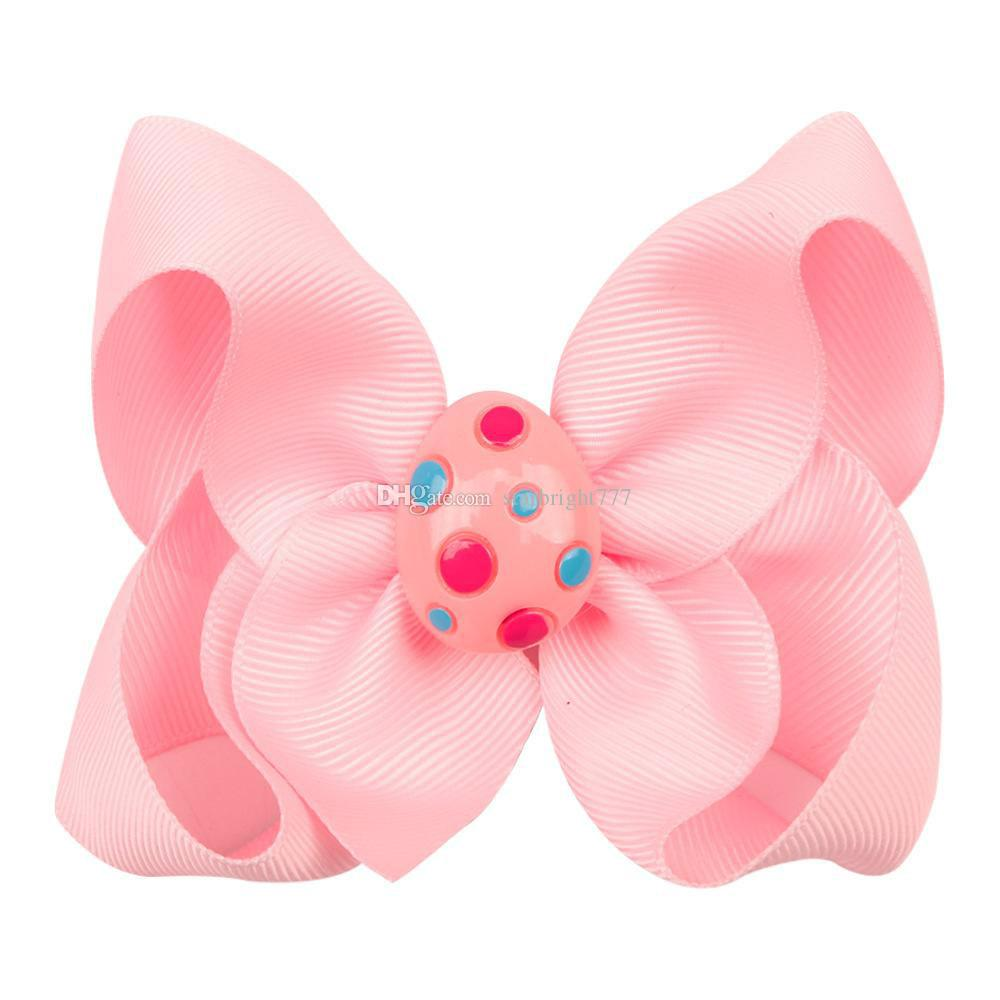 easter egg bright bow girl hair accessories clip small