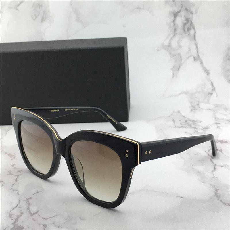 Las gafas de sol de oro Negro / sombra pardo Day Tripper gafas de sol 22031 Gafas de sol Gafas de protección UV con la caja