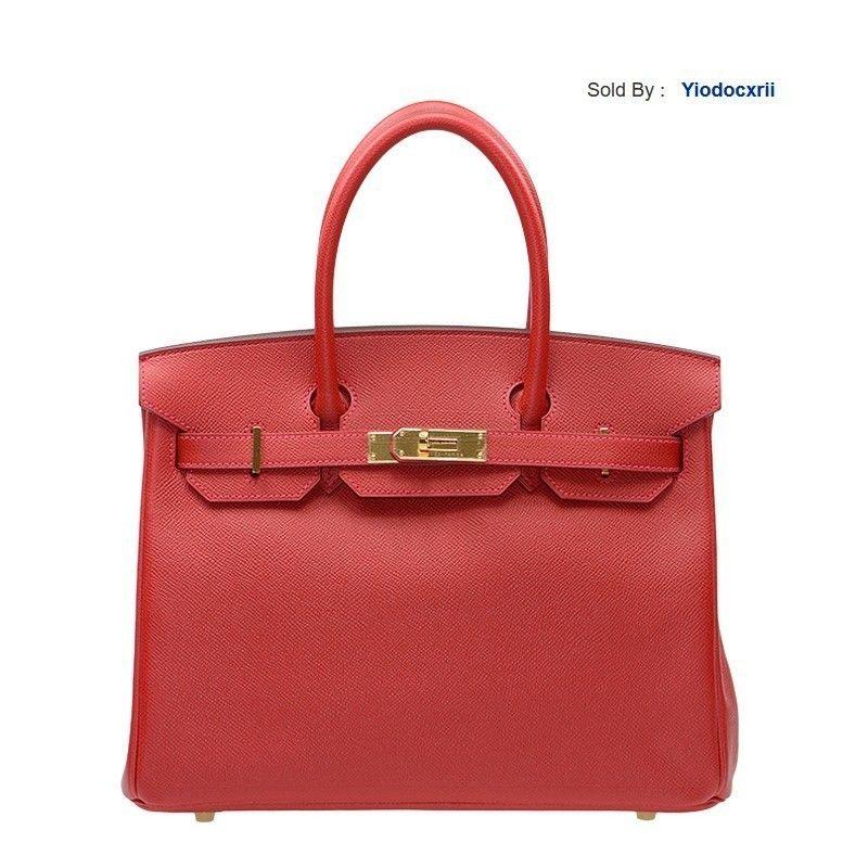 yiodocxrii T018 Handbag 30 Q5 Red Epsom Gold Buckle Bk30q5epgp-ba9907 Totes Handbags Shoulder Bags Backpacks Wallets Purse