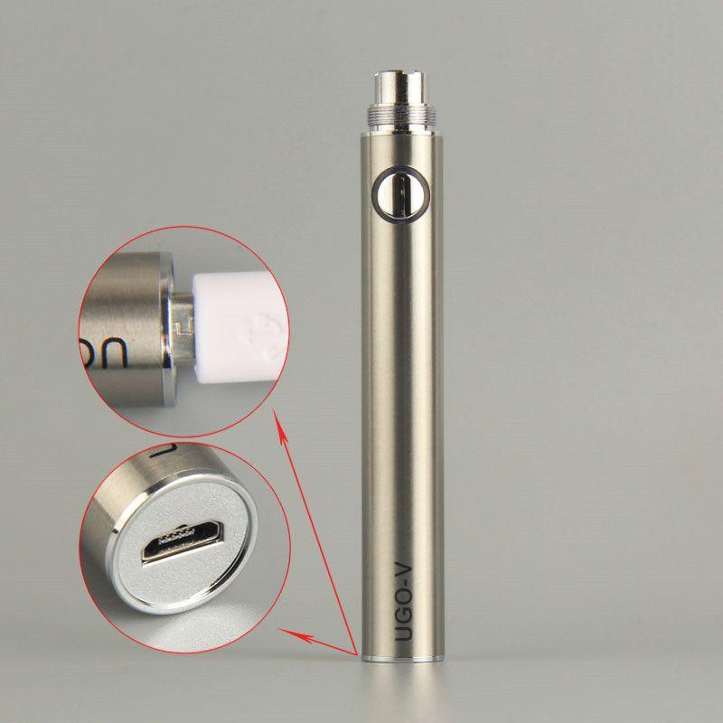 ミニ卸売UGO vバッテリー韓国電子タバコEvodマイクロUSBエゴPassthrough vapeペン