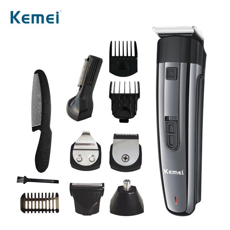 Kemei 892 6 en 1 condensador de ajuste profesional máquinas de cortar el maestro barbero corte de la máquina de afeitar eléctrica NKhDb