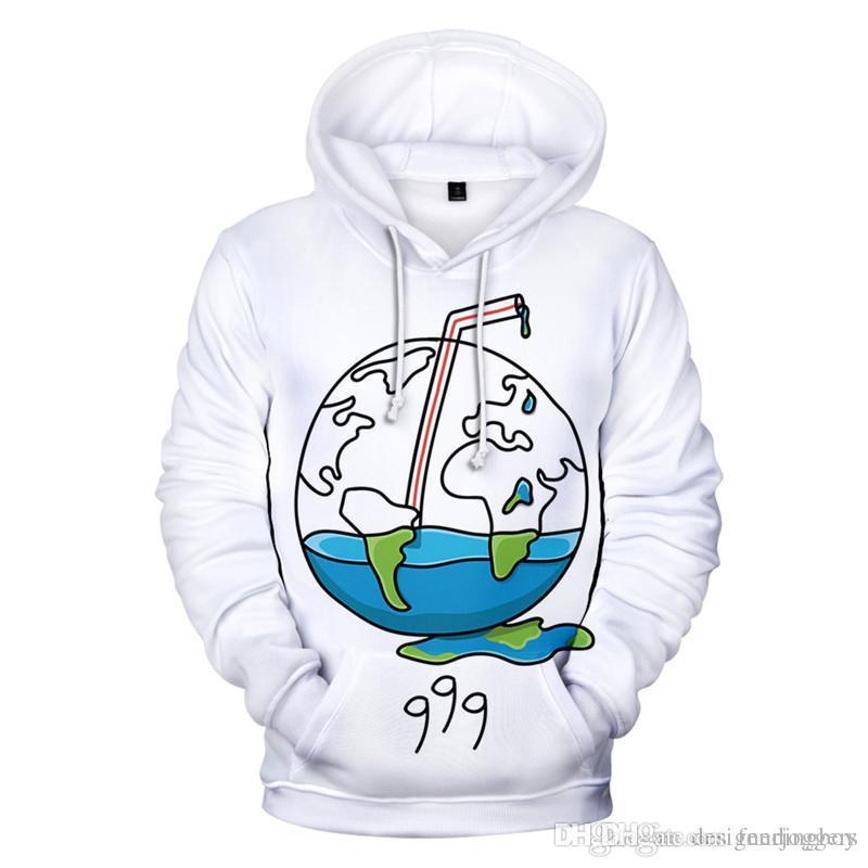 Juice Wrld 999 RIP Hoodies Art und Weise 3D-Druck-Frauen Männer Sweatshirts beiläufige Mens Hip Hop Bekleidung