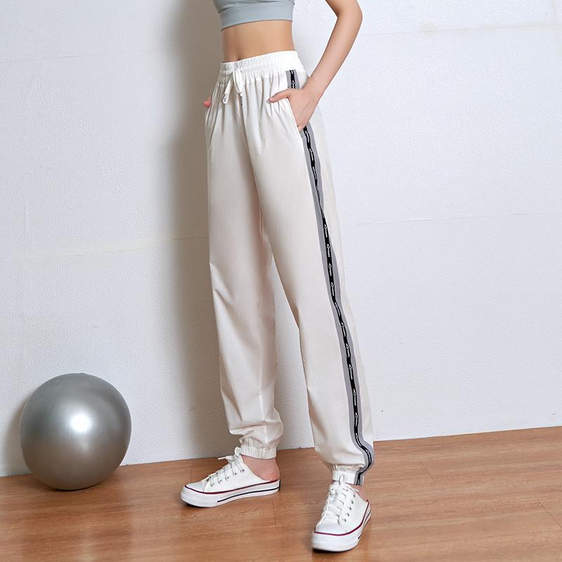 Lusure фитнес спортивные брюки Женские летние повседневные легкие дышащие тренировочные брюки йога закрытие бег свободные брюки