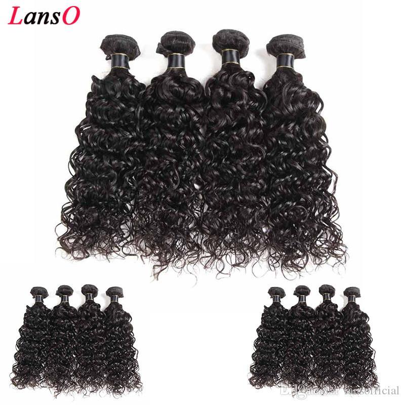 Femmes Long doux bon marché Vague humaine Bundles cheveux 100% brésiliens vierges Cheveux Weave Extensions Trames Vague Livraison gratuite