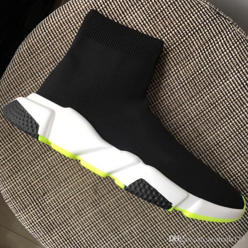 información para 77541 2edc8 Compre Novedades Zapatillas De Calcetines Hombre Mujer Zapatillas De  Deporte Negras Botines, Diseñador Casual Zapatos Amarillos Con Suela Blanca  Más ...
