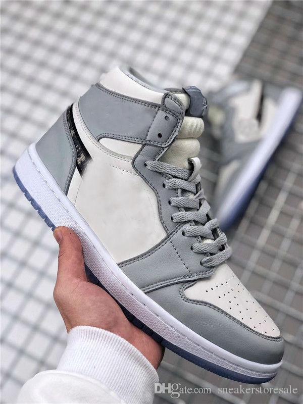 Yeni Geliş 1 Yüksek OG Marka 1s Basketbol Ayakkabıları Erkek Bayan Beyaz Gri Siyah Erkek Spor Tasarımcı Sneakers