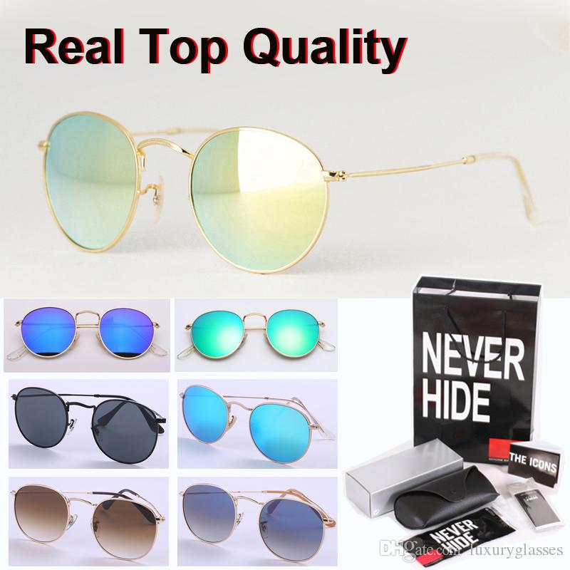 High quality Sunglasses Men Women Brand Designer Glass Lens Round sun glasses Goggle with original box, packages, accessories, everything!
