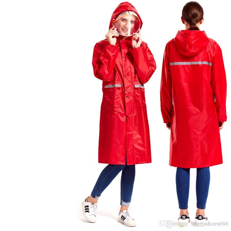 133fe43fb Ladies Womans Plastic Raincoats Hooded Long Bicycle Motorcycle Men Raincoat  Women Jackets Chubasquero Women Rainwear 70A0251 #179623