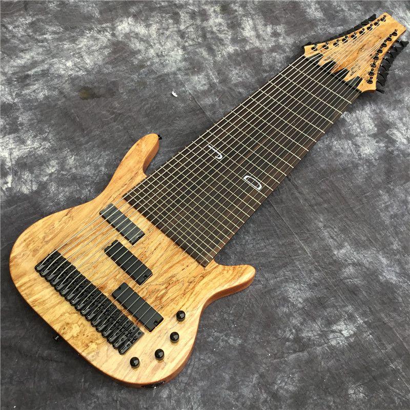 공장 사용자 정의 17 문자열 전기베이스 기타, 로즈 우드 핑거 보드, 플렛리스 (fretless) 인레이, 사용자 정의 제공