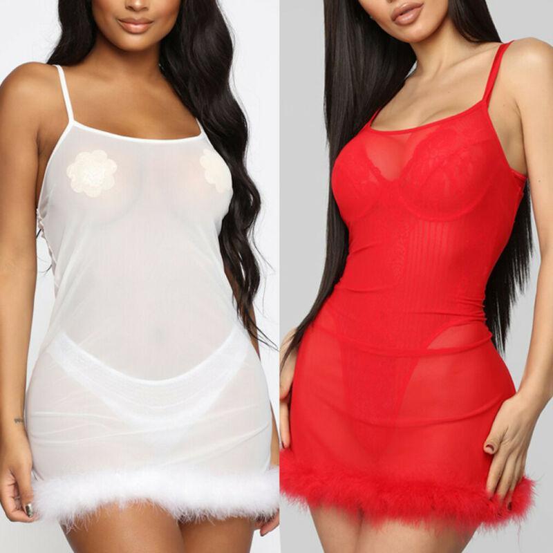 Tamaño más atractivo de las mujeres la ropa interior de la muñeca del cordón del camisón del camisón de la ropa de noche vestido flaco Envoltura Alineado las muchachas del vestido grande del tamaño S-XL