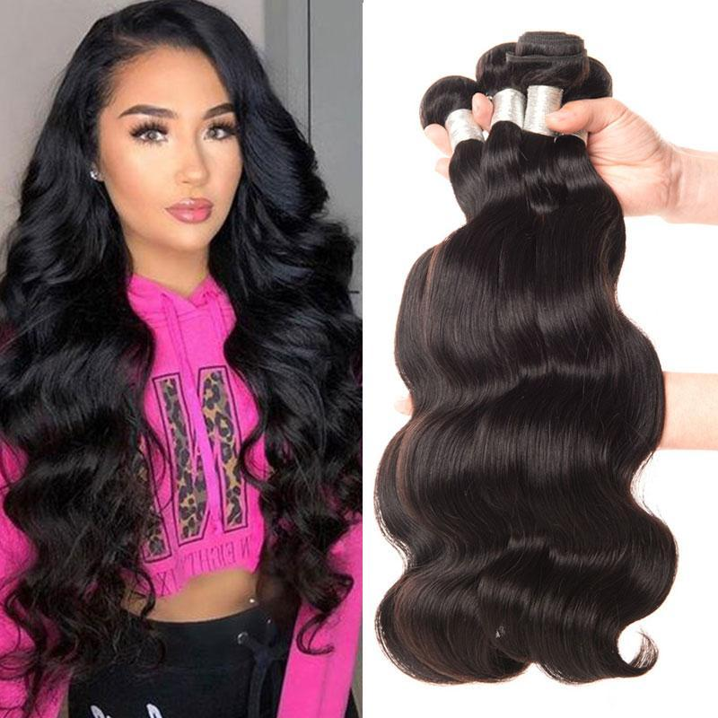 100g Malaysian Hair Bundles Body Wave Can Be Dyed Unprocessed Virgin Human Hair Bundles Body Wave Hair Weft Extensions Affordable
