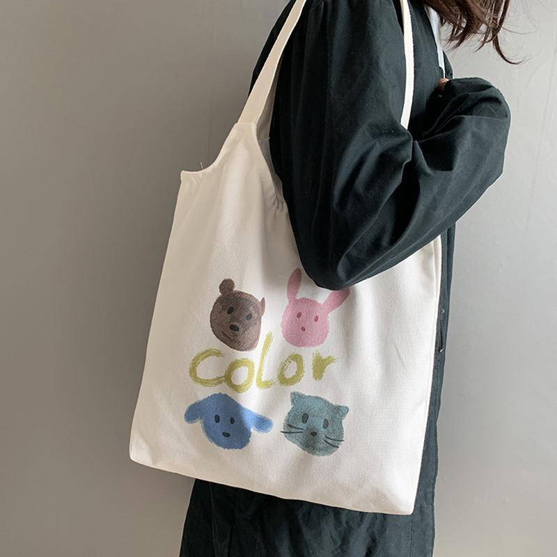 Bolsas Reurative ECO Pattern Thing 2020 Bag Bag New Travel Дамы De Покупатель Холст Ткань Ткань Сумки Удали Женщины Tela Сумки KQETQ