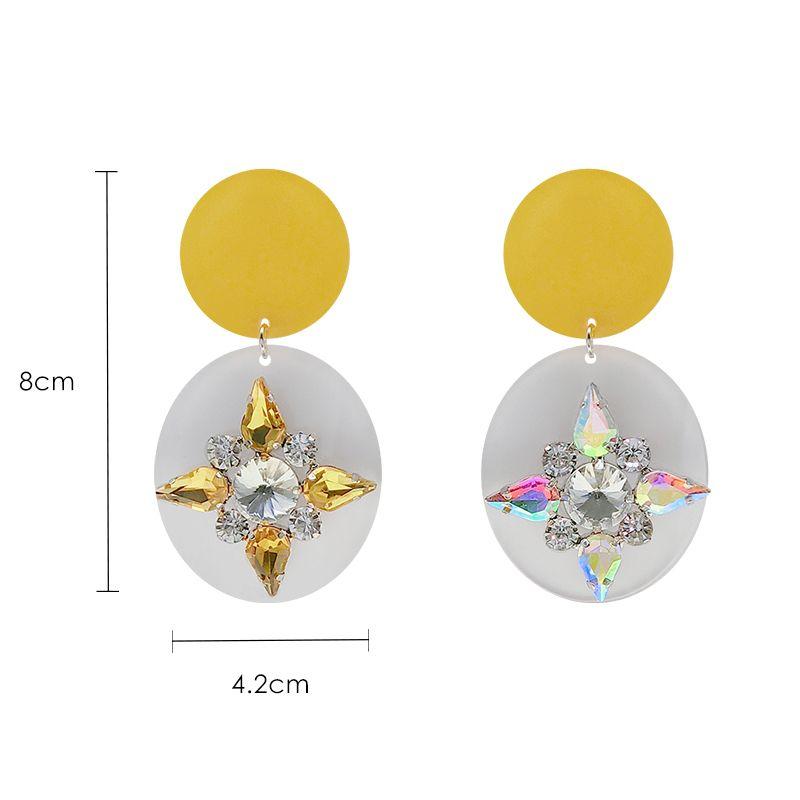 New Earrings Female Korean Fashion Pop Wild Earrings Candy Color Acrylic Exaggerated Earrings Female J190721