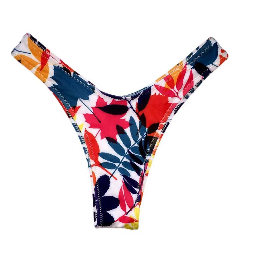 Seksi Bikini Swim Sandıklar Bayan Mayo Plaj Giyim Yıkanma Thong Baskılı Yıkanma Kısa Yaz Swim Kadınlar Alt Plaj Pantolon
