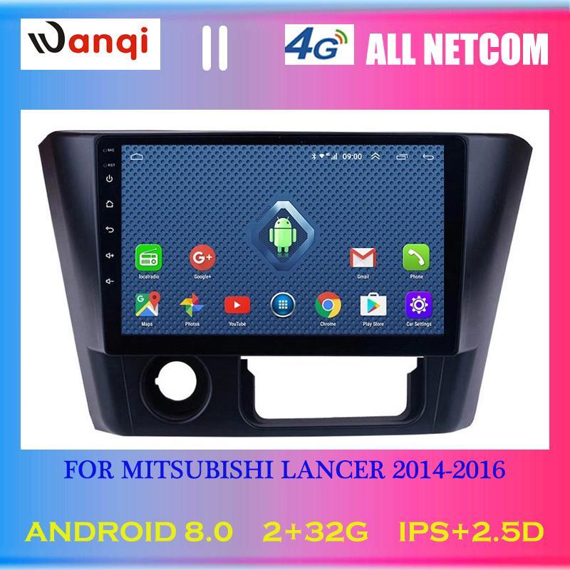 4G Lte Todos Netcom Android 8.0 auto Stereo 9 polegada HD Tela Sensível Ao Toque para 2014-2016 Mitsubishi Lancer Rádio Navegação GPS carro dvd