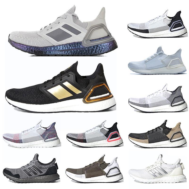 Ultra Boost 5.0 6.0 Hombres Zapatos de funcionamiento Ultraboost 19 Triple láser blanco Tamaño para hombre de las zapatillas de deporte de deportes rojo 36-45 envío