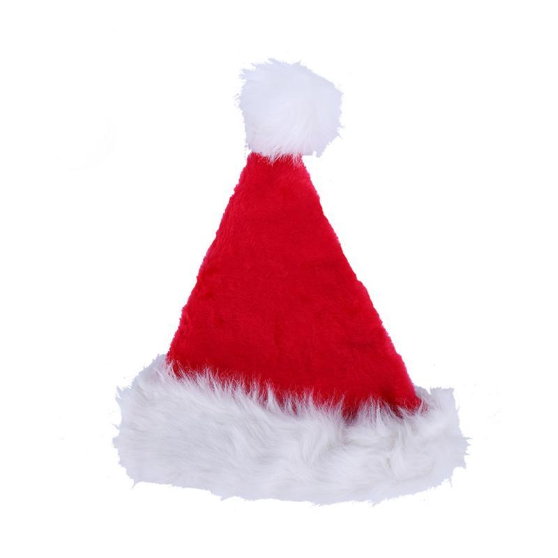 NEW ARRIVAL Christmas Hat Caps Santa Claus Father Xmas Plush Velvet Cap Christmas Gift Cap Decoration