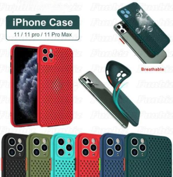 Heat Dissipation Case Breathable Hollow Cooling Mesh Ultra-thin Soft TPU Cover For iPhone 11 Pro X XS Max XR 6 7 8 Plus