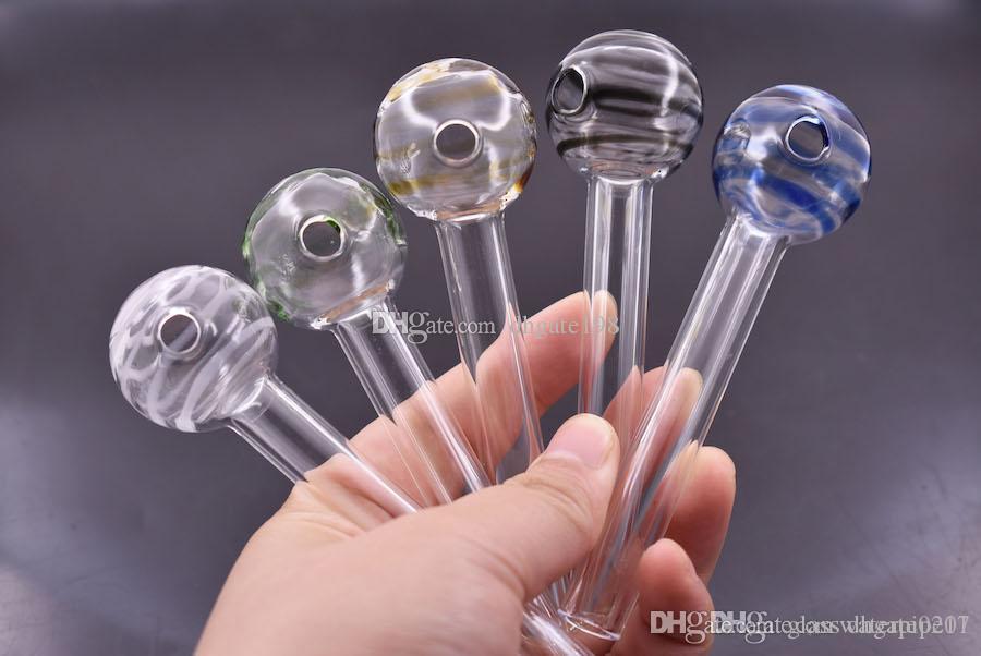 El más reciente embriagadora gruesa 103mm Mini colorido de aceite de cristal de tubo quemador de tubería de uñas tubo de aceite de cristal recta de 12 mm de tubo para fumar
