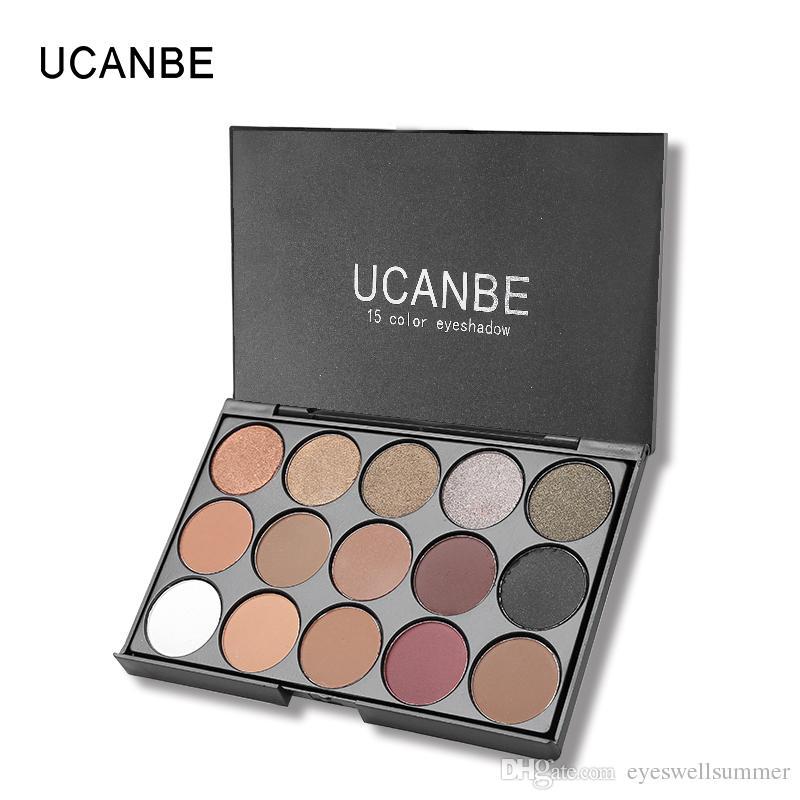 Ucanbe العلامة التجارية المهنية 15 ألوان الأرض ماتي عينيه لوحة أصباغ ماكياج لامع ظلال العيون مسحوق كونتور التجميل مجموعة
