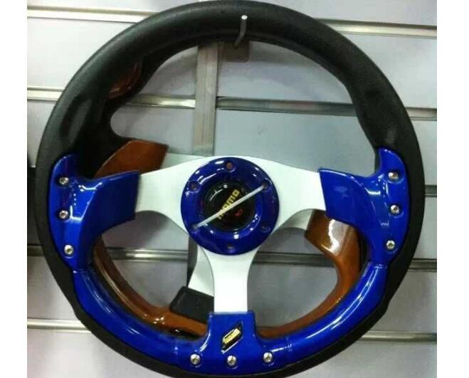 """Universal 13 inch 13"""" 350mm PU modified Car Auto Racing Steering Wheel Leather Aluminum Frame Red Black Silver For MOMO"""